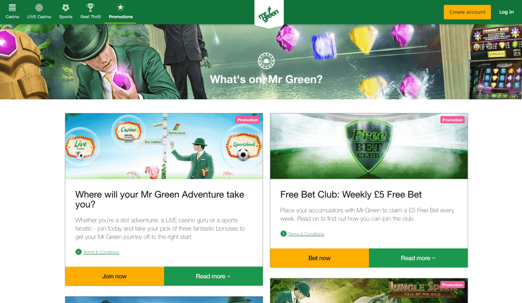 Mr Green Casino Promotions